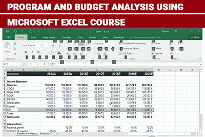 Program and Budget Analysis Using Microsoft Excel Course