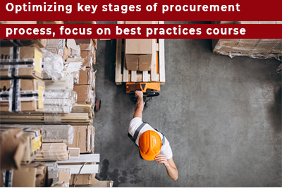 Optimizing key stages of procurement process, focus on best practices course