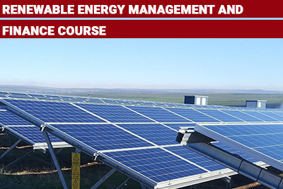 Renewable Energy Management and Finance Course