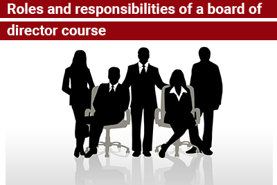 Roles and responsibilities of a board of director course